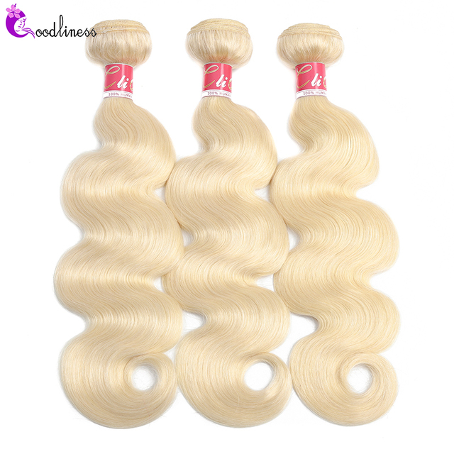 Goodliness 1/3/4pcs 613 Body Wave Bundles Brazilian Hair Weave Bundles Remy Three Tone 1b/4/27 1b/4/30 Ombre Human Hair Bundles 5