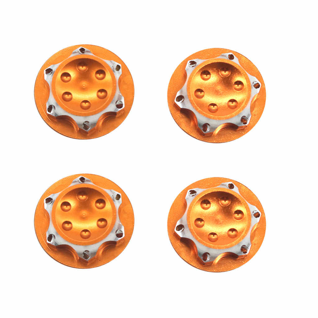 17mm Wheel Hub Hex Nut Fine Anti-dust Covers 4Pcs for 1//8 HSP HPI RC Car DIY
