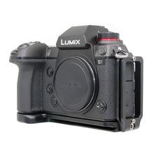 L plaka Quick Release plaka dikey braket Panasonic Lumix S1R S1 kamera