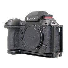 Placa L Placa de liberación rápida soporte Vertical para cámara Panasonic Lumix S1R S1