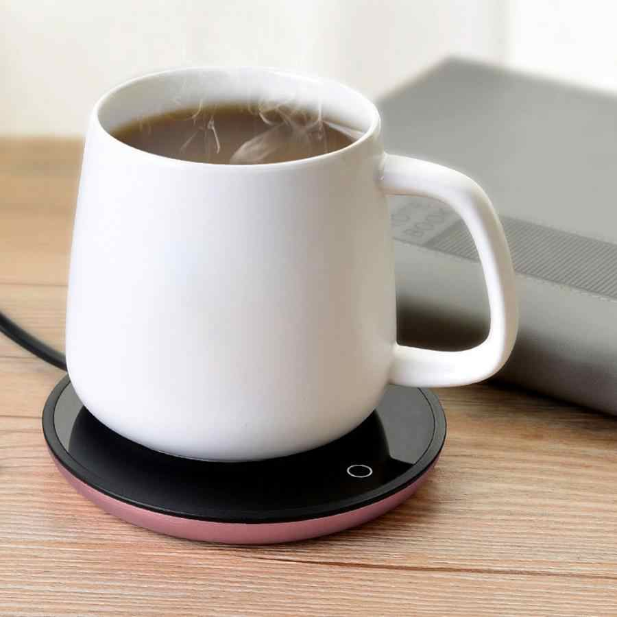110 V/220 V Listrik Cangkir Teh Hangat Tahan Air Sentuh Heating Cup Mat Hangat Pad Heater Piala untuk Kopi teh Susu Kami Uni Eropa Plug