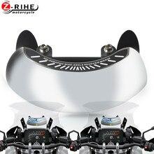 Espejo retrovisor gran angular para motocicleta HONDA XL125V Varadero CBF125 125 250 300 125 ala plateada SWT400 CB500X CBF 125 CBF125