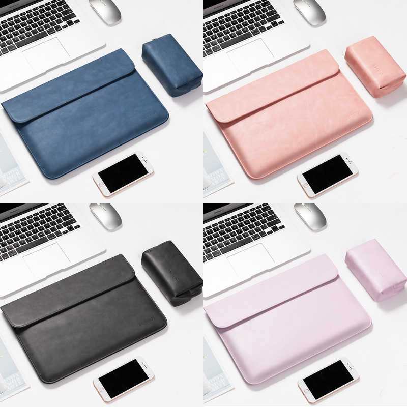 "PU Laptop Case Sleeve 12 13 14 15 inch for Macbook air Xiaomi Pro 13.3"" Dell Huawei Matebook Thinkpad 14"" Bag Cover Waterproof"
