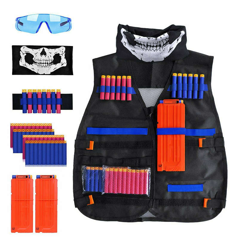 1set Men Hunting Military Equipment Tactical Vests Kids Army Airsoft Combat Mask Children Sniper Clothes Suits Outdoor Toys Set
