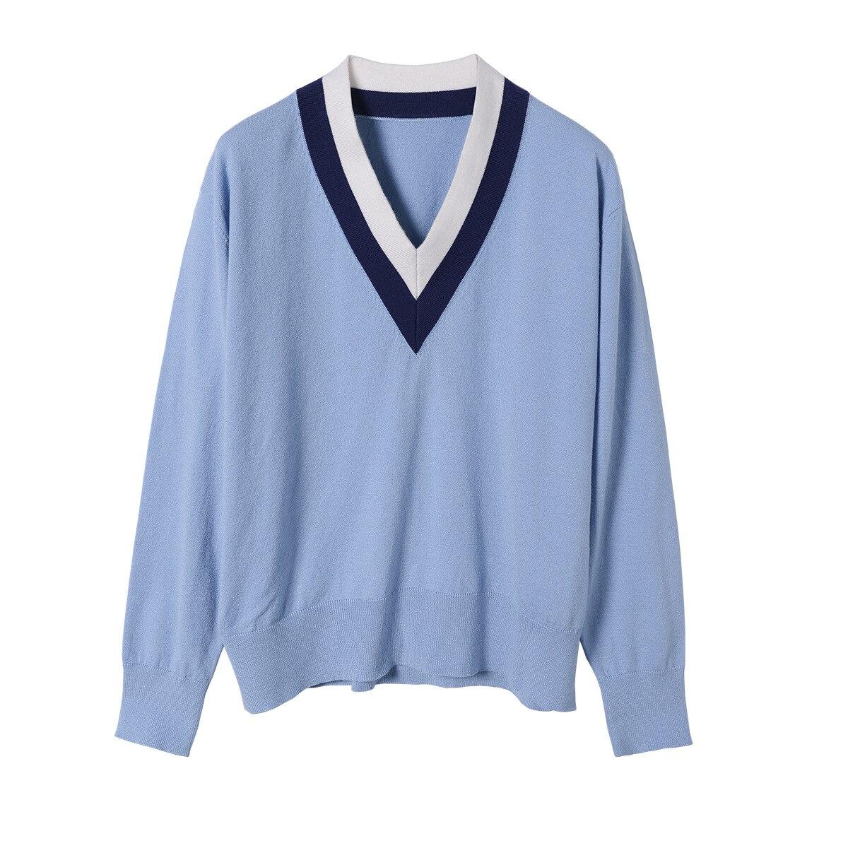 Camisola das mulheres 2019 Gola V Vitalidade Selvagem Maré Camisa Camisola Camisola das Mulheres