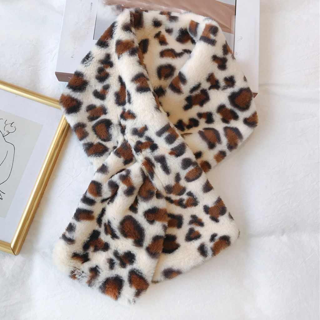 Syal Wanita Syal Cross Tetap Hangat Mewah Musim Dingin Syal Fashion Faux Bulu Villi Syal Pakaian Warna Solid Syal Hangat Szaliki Aku chusty