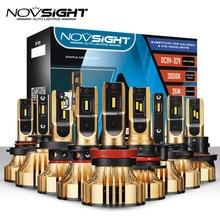 NOVSIGHT 자동차 헤드 라이트 전구 72W 12000LM Led 전조등 3000K H4 LED H7 H1 H3 H11 H13 HB3/9005 HB4/9006 HB5/9007 골드 옐로우