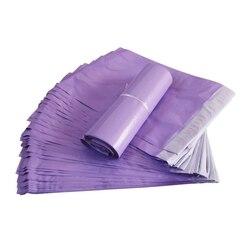 50 Stuks Nieuwe Paars Koerier Verpakking Tassen Envelop Verzending Levert Pakket Plastic Zelfklevende Mailing Zak Poly Mailers