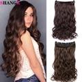 Shangke 100 cm longo sintético encaracolado ondulado grampo de cabelo na extensão do cabelo resistente ao calor natural pedaço de cabelo preto marrom para mulher