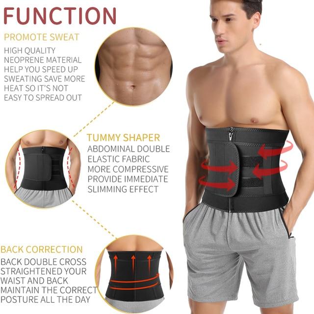 Men Workout Waist Trainer Abdomen Sweat Slimming Belt Weight Loss Shapewear Neoprene Fitness Belly Shapers Sauna Trimmer Belt 1
