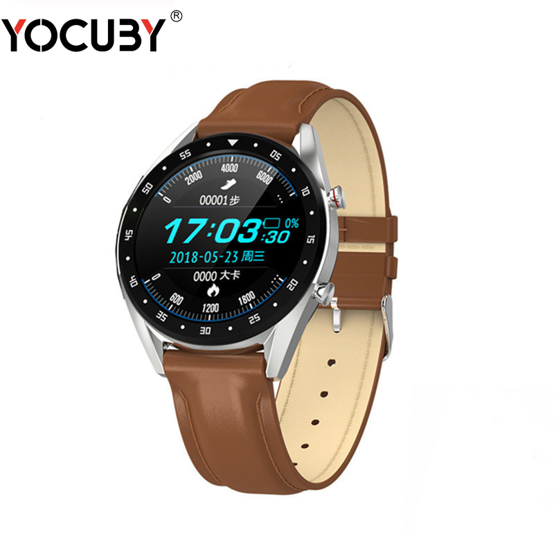 YOCUBY L7 ECG Smartwatch <font><b>Men</b></font> GPS HRV Sports Bracelet BT Talk Heart Rate Blood Pressure <font><b>Watch</b></font> IP68 <font><b>Smart</b></font> <font><b>Watches</b></font> for Android <font><b>IOS</b></font> image