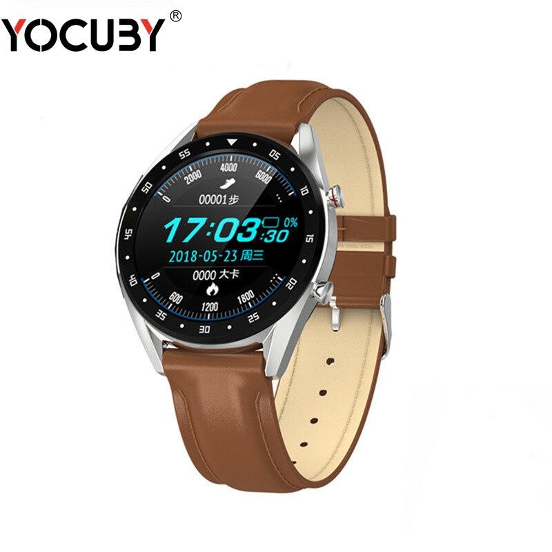 YOCUBY L7 ECG Smartwatch hommes GPS HRV sport Bracelet BT parler fréquence cardiaque tension artérielle montre IP68 montres intelligentes pour Android IOS