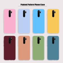 Kolorowe etui Coque dla Redmi Note 9 Pro 8 8T Redmi uwaga 9S Shell miękkie TPU cukierki kolor etui na telefony dla Xiaomi Redmi 9 9A 9C 7 7A tanie tanio XCZJ CN (pochodzenie) Aneks Skrzynki Candy Color Soft TPU Phone Case Redmi Note 9S Redmi 7 Redmi Note 8 Pro Redmi 7A Redmi 9C