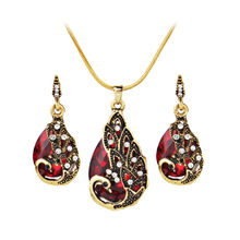 Bohemia Women's Earring Peacock Jewel Ornaments Necklace Ear Studs Jewellery 2020 Modern Female Jewelry High Quality Accessories(China)