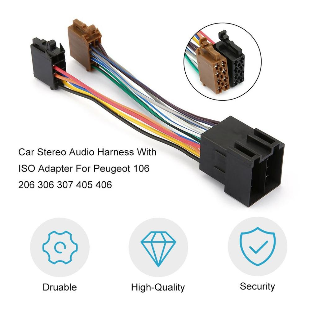 Car Stereo Audio Harness With ISO Adapter Durable Automobile Radio Wiring  Harness For Peugeot 106 206 306 307 405 406 607 Cables, Adapters & Sockets   - AliExpressGlobal Online Shopping for Apparel, Phones, Computers, Electronics, Fashion  and more on AliExpress