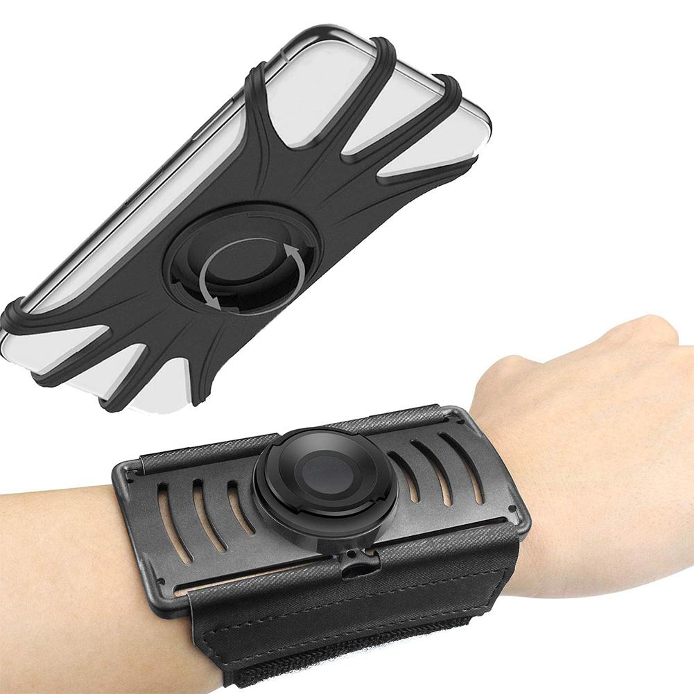 HiMISS Rotatable Mobile Phone Holder for Running Mountaineering Wrist Bracket 4-6.5 inch mobile phone High-quality