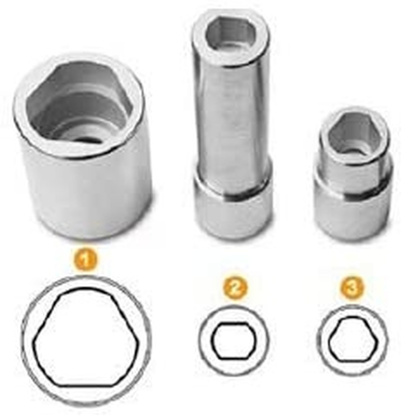 Compatible For 3PC 1/2 Triangular Multi-Toothed Socket And Tool Nuts For Bosch Fuse Board Injection