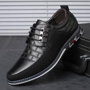 Wysokiej jakościowy duży rozmiar obuwie męskie moda biznes mężczyźni obuwie gorąca sprzedaż wiosna oddychające obuwie męskie czarne tanie i dobre opinie Spindrift Syntetyczny Przypadkowi buty RUBBER Lace-up Pasuje prawda na wymiar weź swój normalny rozmiar Podstawowe Wiosna jesień