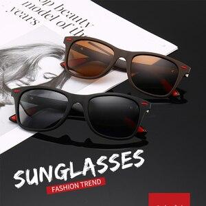 Image 2 - 2019 nuevo clásico gafas de sol polarizadas de las mujeres de los hombres conducción marco cuadrado gafas de sol de gafas para hombres UV400 conductor, gafas de gafas