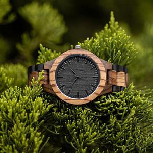 Image 5 - BOBO BIRD Wood Watch Mens Walnut Ebony Wooden Strap Quartz Wristwatch Male erkek kol saati Miyota gift relogio masculino