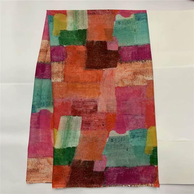 2021 Fashion design tessuto di pizzo africano di cotone voile svizzero di alta qualità 5 metri tessuto stampato per abito da donna. LO12188
