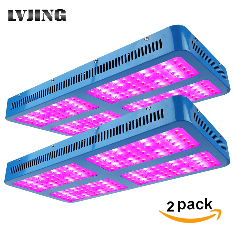 2pcs/set Led Grow Light 1000W 2000W 3000W Double Chip LED Growlight Full Spectrum For Indoor Tent Medical Plants Greenhouse Lamp