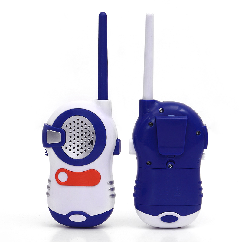 2pcs New Mini Electronic Safety Walkie Talkies Toys Outdoor Parent-Child Interactive Game Camping Electric Game Kid Gift