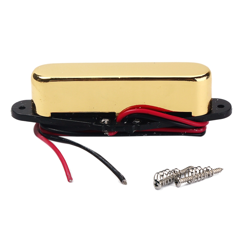 Dropship-Vintage Golden Magnet Neck Pickup Humbucker For Fender TL Style Electric Guitar Bass Replacement Parts