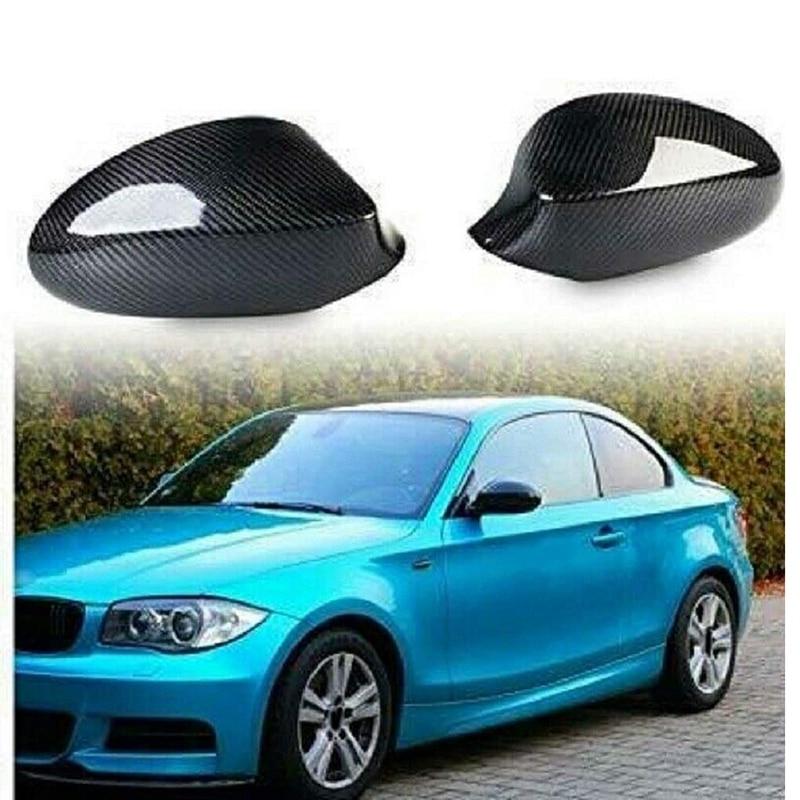 Car Carbon Fiber Side Mirror Cover Rearview Mirror Cover For-BMW 1 Series E87 E82 07-10