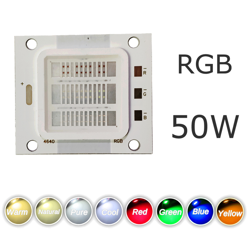 RGB Chip High Power Diode 50W COB Colorful Spotlight Bright DIY Bead LED Bulb