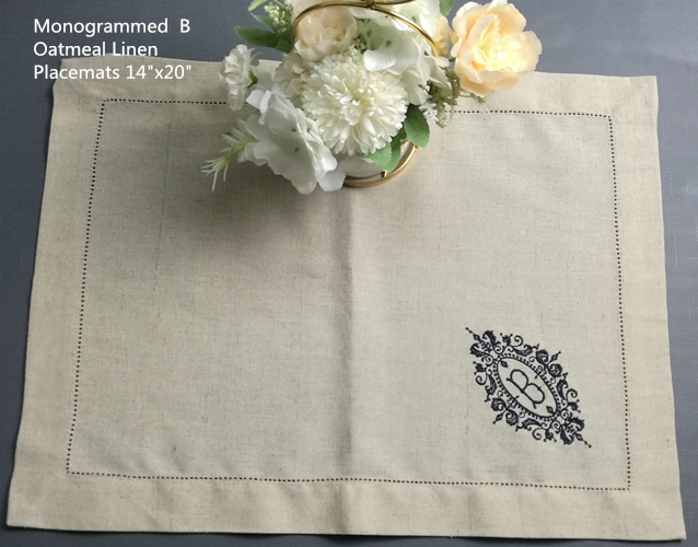 Set Of 12 Monogrammed Placemats 14