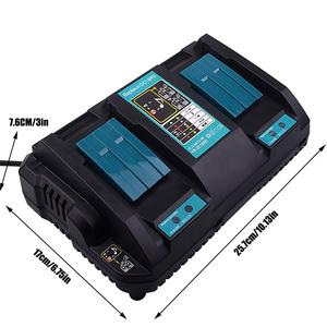 Double Battery Charger For Makita Two USB Port 7.2V 14.4V 18V BL1830 Bl1430 DC18RC DC18RA EU Plug Free shipping(China)