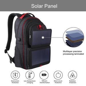 Image 4 - HAWEEL 14W katlanabilir güneş enerjisi açık taşınabilir tuval çift omuzlar Laptop sırt çantası, USB çıkışı: 5V 2.1A Max (