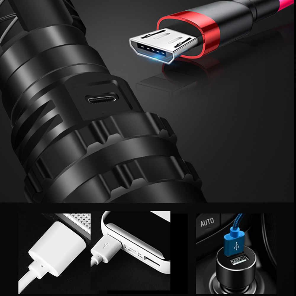 לומן גבוה Xhp50.2 L2 LED נטענת פנס USB LED טקטי פנס 5 מצבים 18650 26650 לפיד לקמפינג ציד