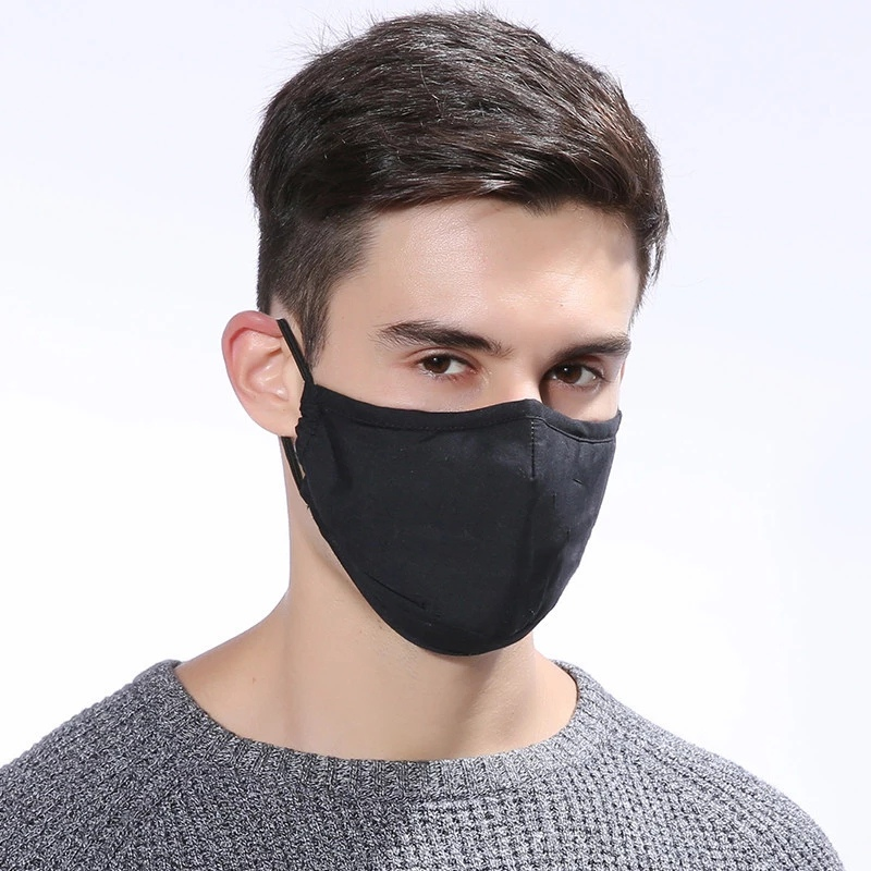 Hf5f4da4767f14beea9bb3e78dabc317aE 1pcs Reusable Washable Breathable Face Mask Cycling Running Facemask Anti Dust Windproof Air Purifying Face Mask +2 Filter