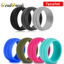 Hypoallergenic Silicone Rubber Flexible Ring Band Wedding Engagement Stackable Plain Simple Statement US Size 6-12 Couples Rings