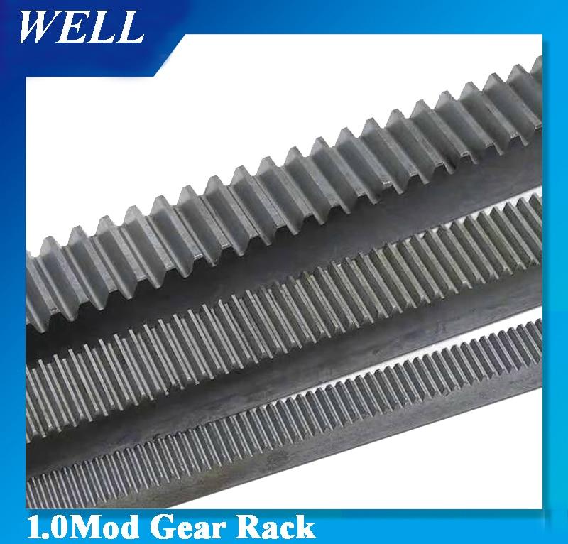 Livraison Gratuite 1M 1.0 Mod Moule 10*10*1000mm 12*12*1000mm 15*15*1000mm Engrenage Spur Support Précision CNC Dents Droites Crémaillère