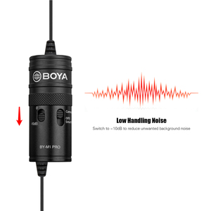 Image 3 - BOYA BY M1 Pro Omni Directional Lavalier Microphone Mic Single Head Clip on Condenser Mic for Smartphone DSLR Camcorder Audio