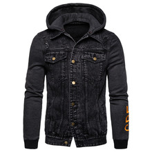 2019 New Autumn Winter Mens Hoodied Jackets Casual Style Jeans Jacket