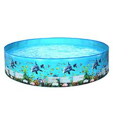 122/152cm Round Swimming Pool Home Use Garden Paddling Pool Non-inflatable Children Bathing Tub Kids Family Water Party