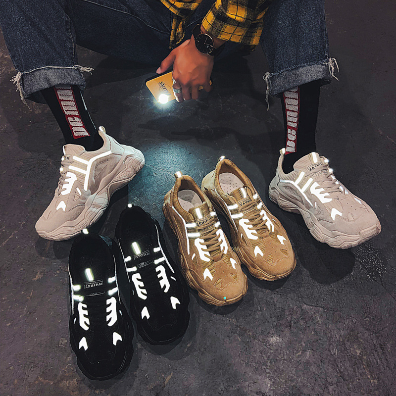 Men Casual Shoes Outdoor Fashion Reflective light Comfortable Sneakers for Men Leisure Sneaker Flats Zapatillas Hombre A55-72