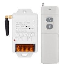 433mhz AC 220V 380V 1CH 30A Relè Interruttore di Telecomando Senza Fili Ricevitore + Trasmettitore 500M Per pompa dell'acqua HA CONDOTTO LA Luce