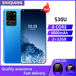 SOYES S30U Plus Mobile Phone Android 4G LTE 6.8inch Face&Fingerprint Unlock Cell Phone 3+32GB 2+5MP 2 SIM Card Smartphones