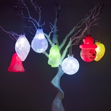 7-Color Flashing LED Light Up Christmas Pendant Decorative Hanging Drop Ornament Holiday
