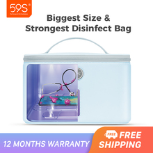 59S P55 UV Sterilizer UVC Disinfection Bag Sanitizer for Face Masks Smartphone Toothbrush Kills 99.9% of Germs Antibacteria