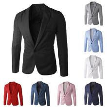 Solid Color male wedding dress men Business Casual blazer Wedding Prom Dinner Su