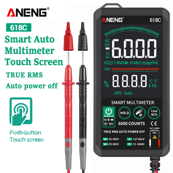 ANENG 618C Digital Multimeter Smart Touch DC Analog Bar True RMS Auto Tester Professional Transistor Capacitor NCV Testers Meter - discount item  30% OFF Measurement & Analysis Instruments