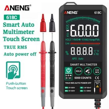 ANENG 618C мультиметр цифровой мультиметры тестер Smart Touch экран мультиметр мини вольтметр digital multimeter транзистор тестер esr meter мультиметор цифрово...