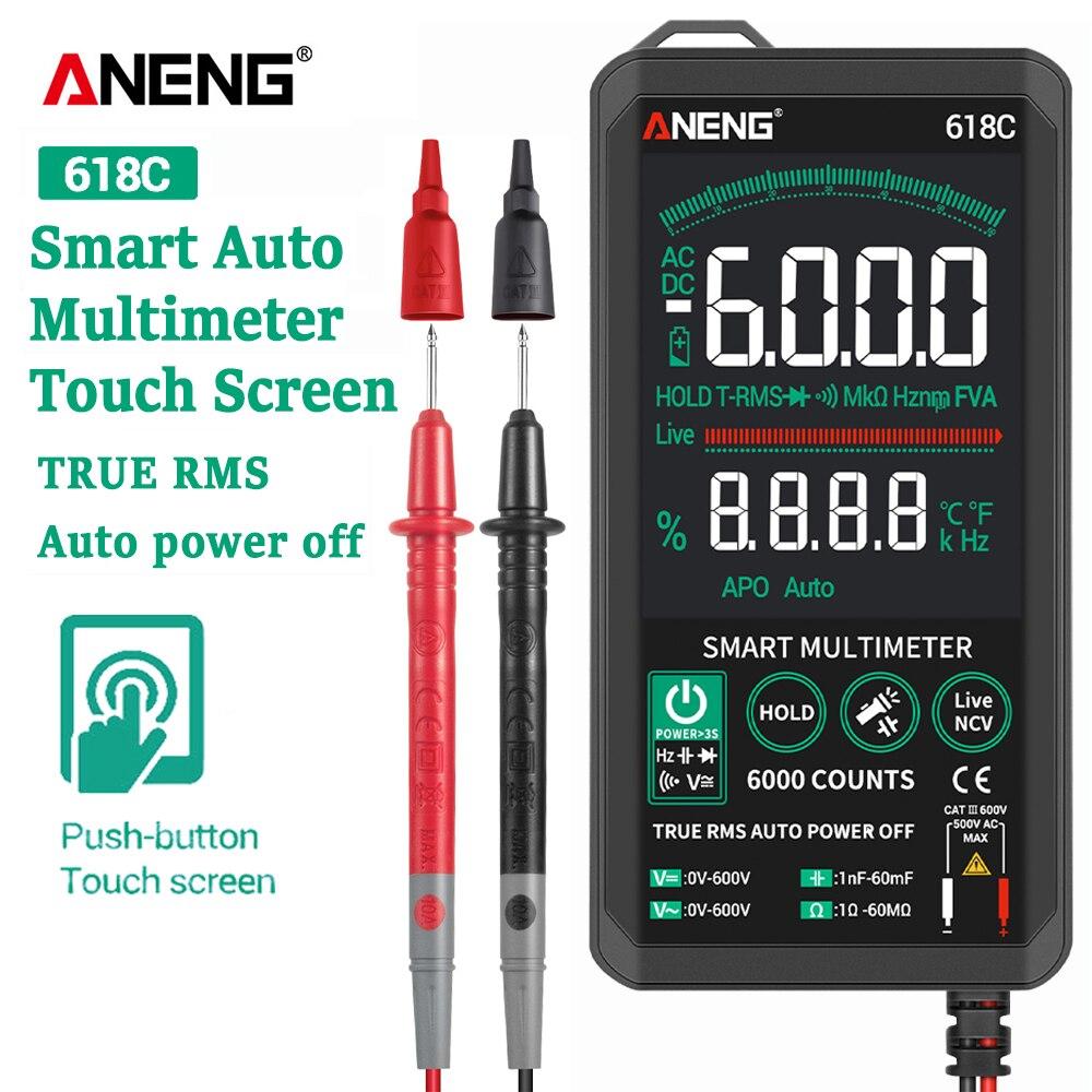 ANENG 618C мультиметр цифровой мультиметры тестер Smart Touch экран мультиметр мини вольтметр digital multimeter транзистор тестер esr meter мультиметор цифровой тестор измеритель емкости транзисторный конденсатор NCV|Мультиметры|   | АлиЭкспресс