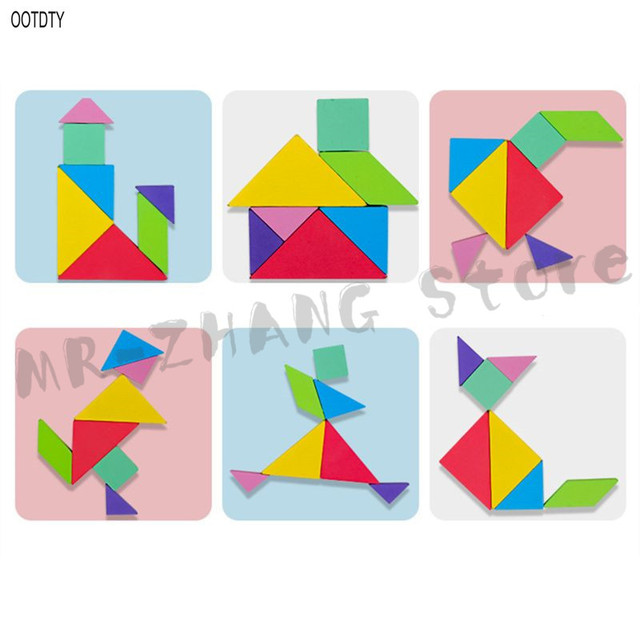 OOTDTY 96 Puzzles Magnetic Tangram Kids Toys Montessori Educational Magic Book Suit parents family Environmental Assemble Games